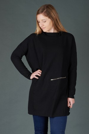 lb195201 - Lurdes Bergada Oversized Tunic Top @ Walkers.Style buy women's clothes online or at our Norwich shop.