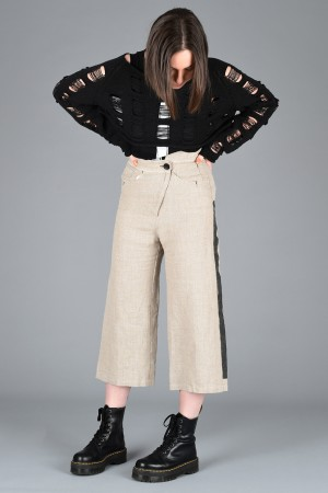 lb200001 - Lurdes Bergada Printed Asymmetric Trousers @ Walkers.Style buy women's clothes online or at our Norwich shop.