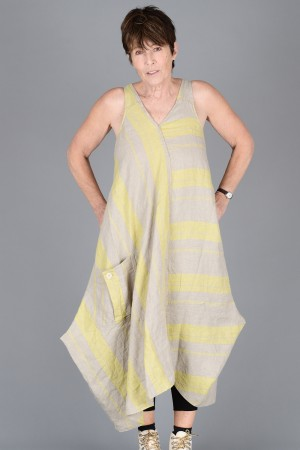 lb200004 - Lurdes Bergada Striped Dress @ Walkers.Style buy women's clothes online or at our Norwich shop.