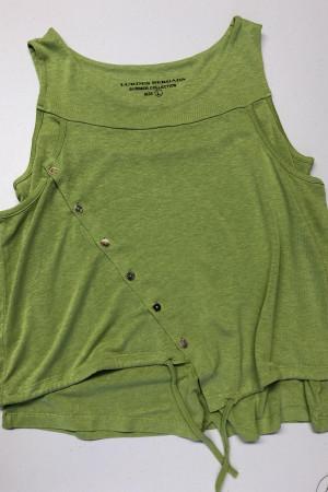 lb200024 - Lurdes Bergada Double Layer T-Shirt @ Walkers.Style women's and ladies fashion clothing online shop
