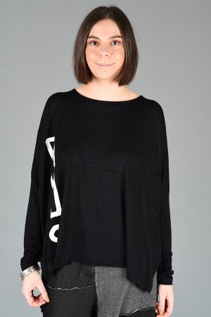 NR200070 - Nor Jersey ! Oversized Top @ Walkers.Style buy women's clothes online or at our Norwich shop.