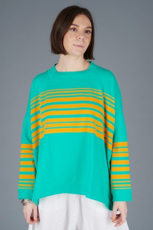 KK200087 - Knit Knit Stripe Top @ Walkers.Style buy women's clothes online or at our Norwich shop.