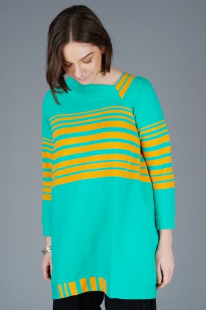 KK200088 - Knit Knit Stripe Tunic @ Walkers.Style buy women's clothes online or at our Norwich shop.