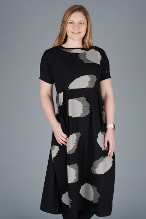 KK200097 - Knit Knit Abstract Dress @ Walkers.Style buy women's clothes online or at our Norwich shop.