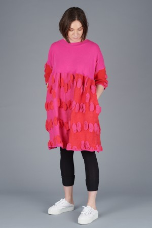 KK200100 - Knit Knit Textured Tunic @ Walkers.Style women's and ladies fashion clothing online shop