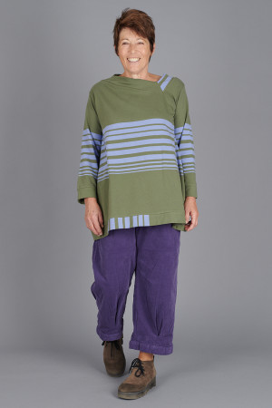 kk200273 - Knit Knit Stripe Tunic @ Walkers.Style buy women's clothes online or at our Norwich shop.