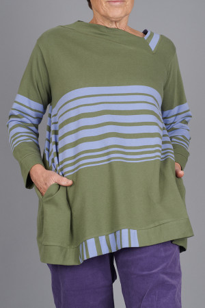 kk200273 - Knit Knit Stripe Tunic @ Walkers.Style women's and ladies fashion clothing online shop
