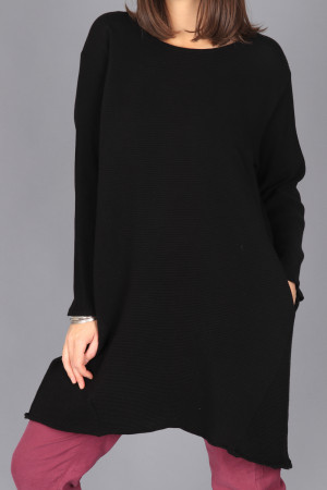 kk200274 - Knit Knit Ribbed Tunic @ Walkers.Style women's and ladies fashion clothing online shop