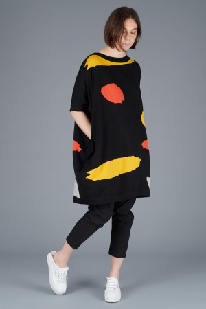 kk200278 - Knit Knit Abstract Tunic @ Walkers.Style women's and ladies fashion clothing online shop
