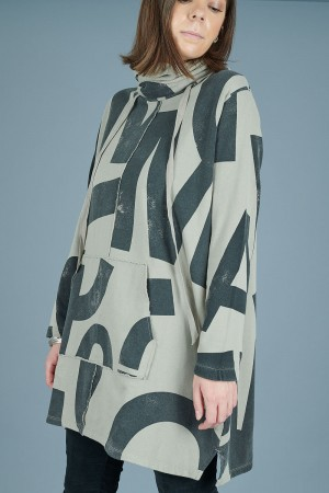 lb205096 - Lurdes Bergada Printed Sweatshirt @ Walkers.Style women's and ladies fashion clothing online shop