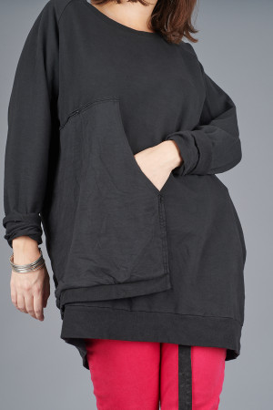 po205120 - Pxxx OFF Asymmetric Tunic @ Walkers.Style women's and ladies fashion clothing online shop