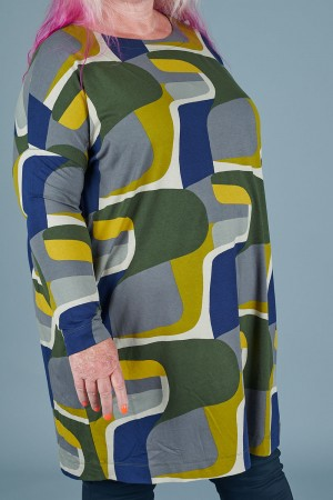 td205142 - Two Danes Printed Botelle Tunic @ Walkers.Style women's and ladies fashion clothing online shop