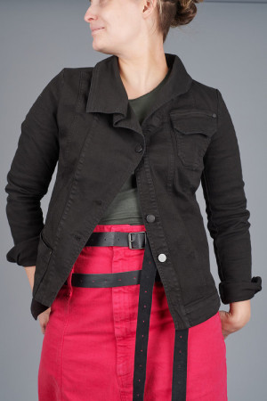 po205201 - Pal Offner Denim Revers Jacket @ Walkers.Style women's and ladies fashion clothing online shop