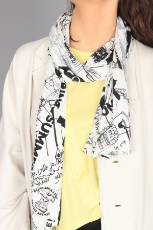 po210051 - Pal Offner Summer Scarf @ Walkers.Style women's and ladies fashion clothing online shop
