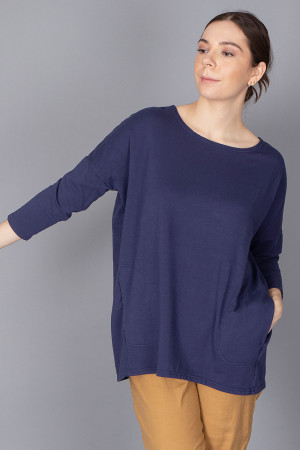 cl210196 - Cut Loose Long Boxy Top @ Walkers.Style women's and ladies fashion clothing online shop