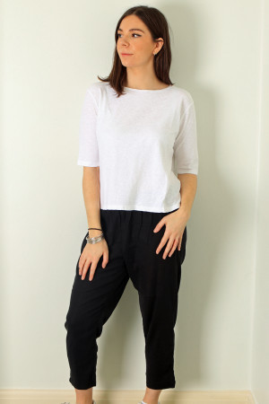 cl210203 - Cut Loose Cotton Top @ Walkers.Style buy women's clothes online or at our Norwich shop.