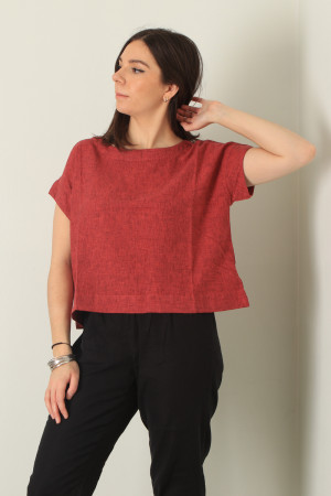 cl210213 - Cut Loose Crop Top @ Walkers.Style women's and ladies fashion clothing online shop