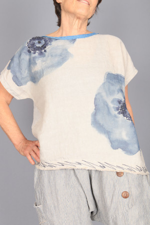 mg210231 - Mara Gibbucci Printed Top @ Walkers.Style women's and ladies fashion clothing online shop