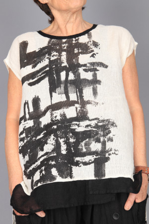 mg210232 - Mara Gibbucci Printed Top @ Walkers.Style women's and ladies fashion clothing online shop