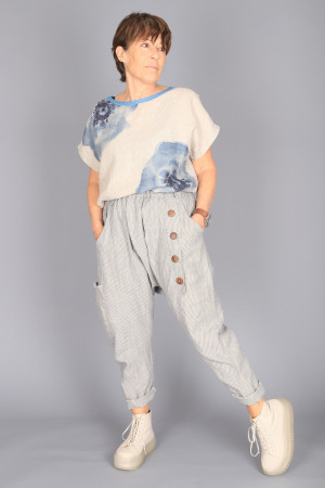 mg210236 - Mara Gibbucci Linen Pants @ Walkers.Style buy women's clothes online or at our Norwich shop.