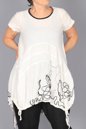mg210242 - Mara Gibbucci Linen Tunic @ Walkers.Style women's and ladies fashion clothing online shop