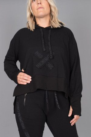 pc215071 - Philomena Christ Hoodie @ Walkers.Style women's and ladies fashion clothing online shop