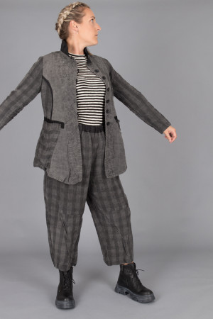 mg215101 - Mara Gibbucci Grey Check Pants @ Walkers.Style buy women's clothes online or at our Norwich shop.