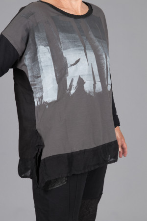 mg215107 - Mara Gibbucci Printed Tunic @ Walkers.Style women's and ladies fashion clothing online shop