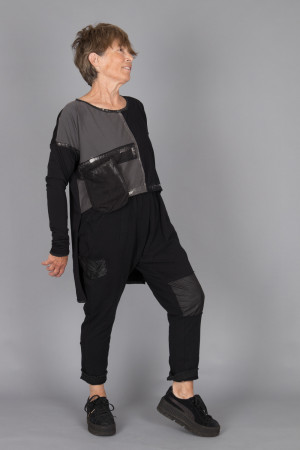 mg215110 - Mara Gibbucci Black and Silver Tunic @ Walkers.Style buy women's clothes online or at our Norwich shop.